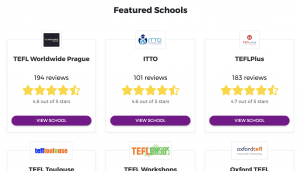 Featured Schools Section on Homepage
